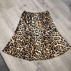 JULY 4th NWT Gilli Leopard Print Chiffon Skirt